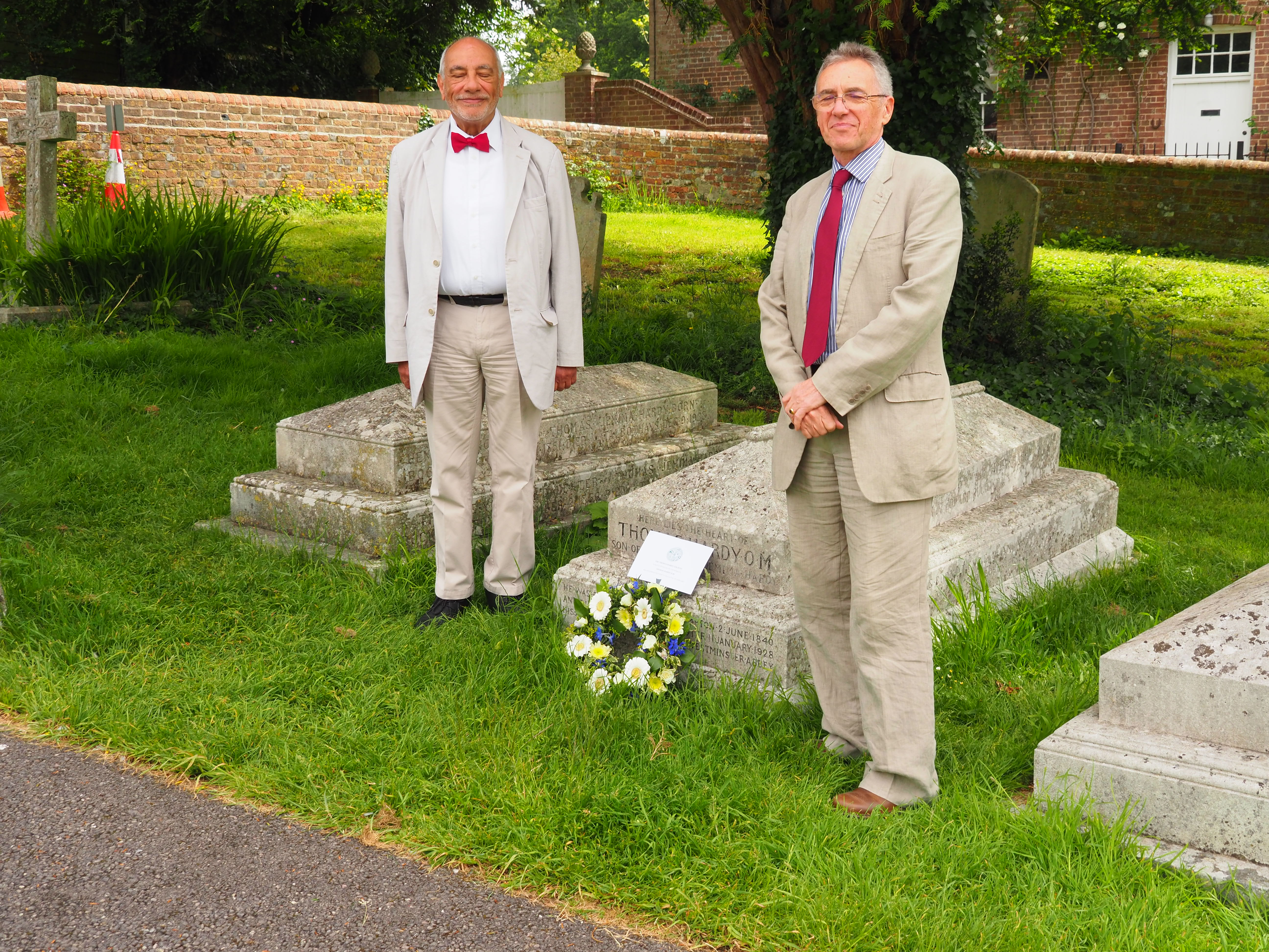 Wreathlaying at Stinsford 2019 - Dr Faysal Mikdadi and Dr Tony Fincham