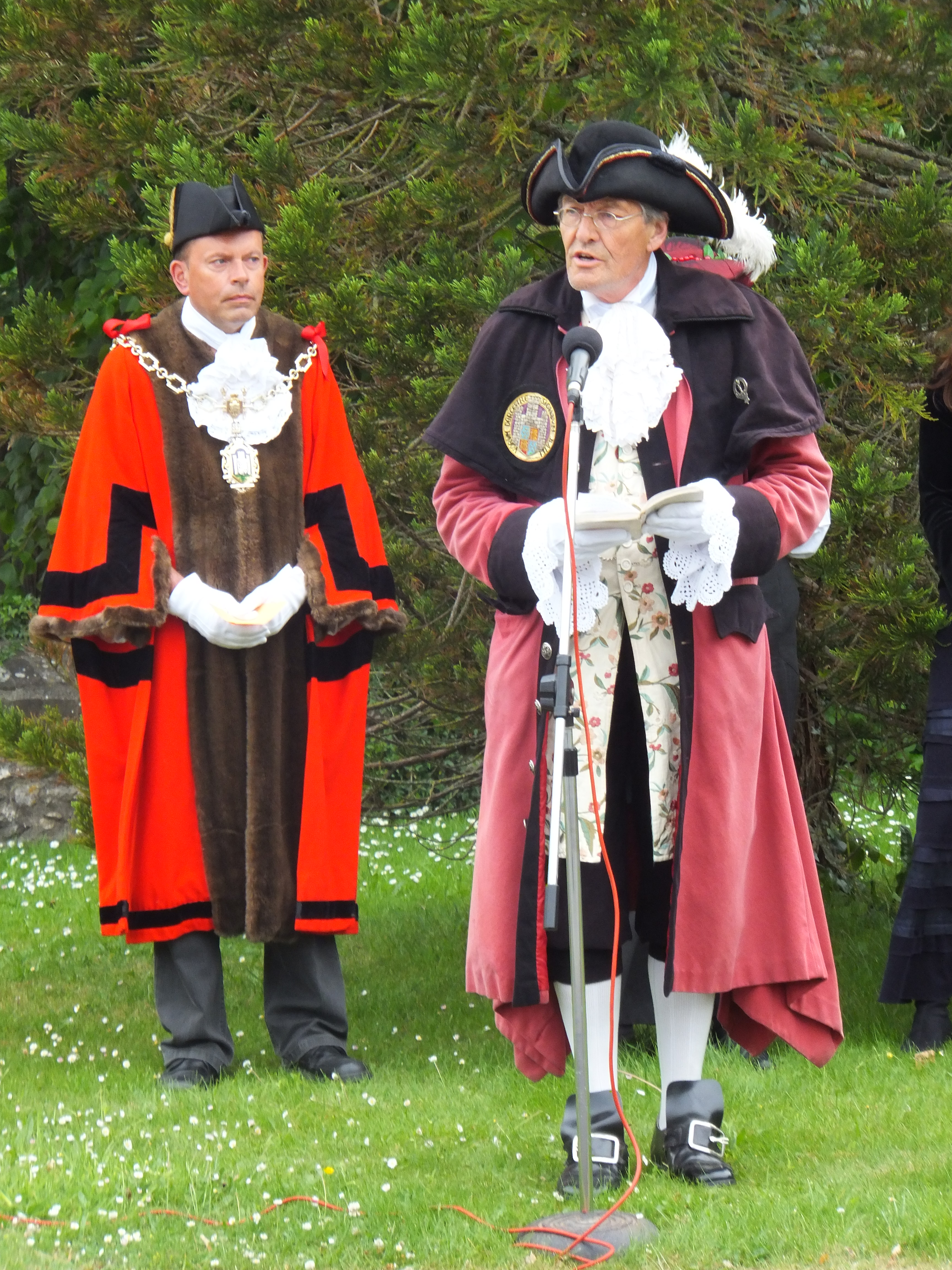 Birthday Celebrations 2012 - Mayor of Dorchester and Town Cryer Alistair Chisholm