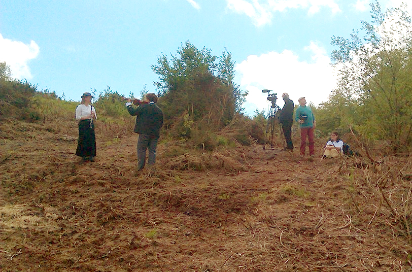 Filming on the Heathland